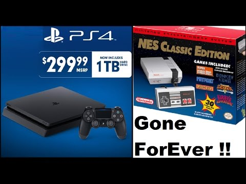 Don't Buy A Playstation 4 Slim. PS4 Slim Are Now All 1 TB. No More NES Classic Edition's Ever