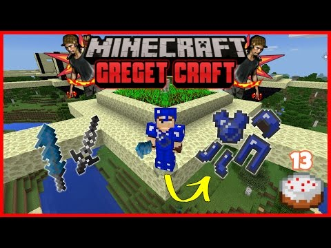 Senjata dan Armor Legendaris di Desa Melayang ??!! #13 | Minecraft PE Modded Survival | Greget Craft