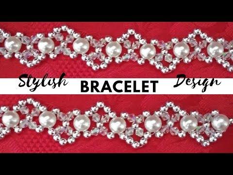 Elegant Pearl and Crystal Beads Bracelet (Easy Beginners Tutorial)