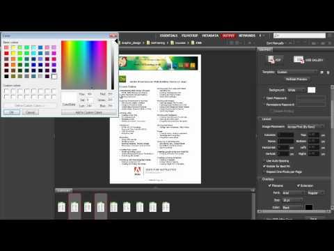 Create PDF Documents with Adobe Bridge