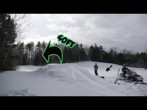 Backyard skiing/snowboarding! (40 ft Jump)