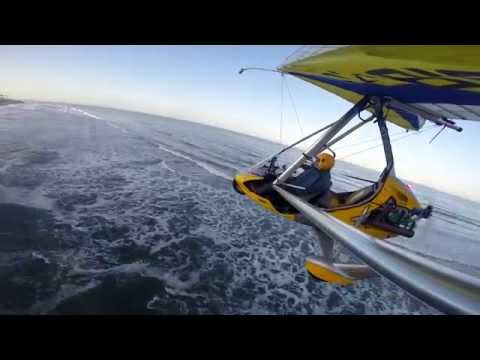 Ultralight Trike Flight between 10,000 and 30 feet high