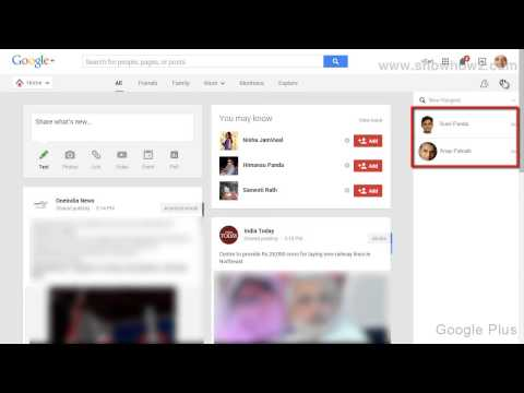 Google+ - How To Send A Message To Multiple User