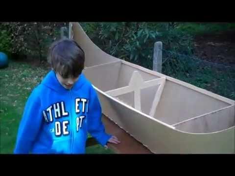Build your own Viking Longboat using an 8x4 sheet of hardboard - part 2
