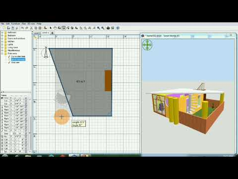 Sweet Home 3d- Part-2  how to make house plan
