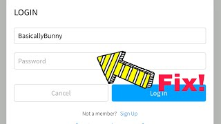 How to fix the login glitch on ROBLOX!
