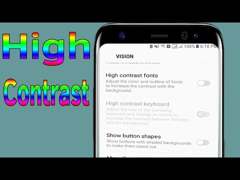 Fonts : How To Enable Disable High Contrast Fonts On Samsung Galaxy J7/S7/S8/S9 - Helping Mind