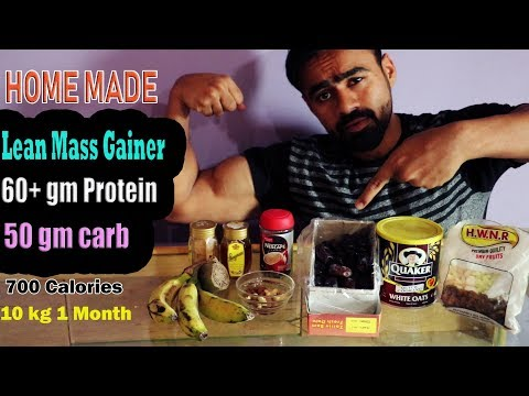 Weight Gainer & Pure Muscle Building Homemade Shake   60 Gm Protein
