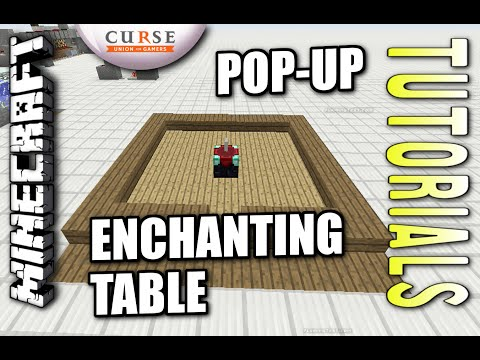Minecraft PS4 - POP UP ENCHANTING TABLE - How To - Tutorial ( PS3 / XBOX )