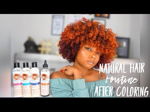 Colored Natural Hair Routine | Restore Moisture and Curl Pattern Damage From Color