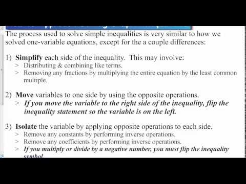 Lesson 1 1   Approach to Solving Inequalities
