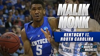 Kentucky vs. North Carolina: Malik Monk scores 12 points for Wildcats