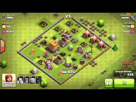 COC Monk Vs Mak Clash of Clans Game play