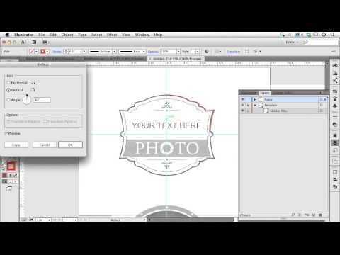 Make a Mirror Image in Illustrator