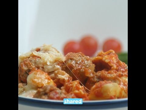 One Pot Cheesy Tortellini & Meatballs