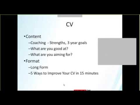 5 Ways to Improve Your CV in 15 minutes SD