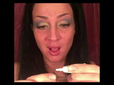 Eating a pot brownie and doing my makeup