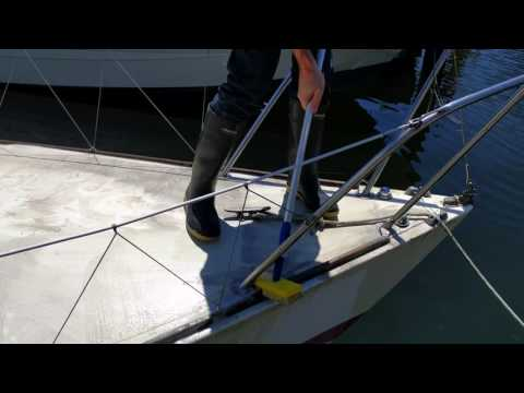 Boating deck wash