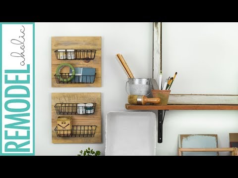 Easy Dollar Store DIY Farmhouse Wall Baskets Tutorial
