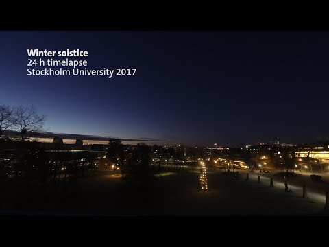Time Lapse – Winter solstice at Stockholm Uni