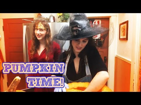 Pumpkin Carving & Seed Cooking Recipe | Live with Damsels in DIY