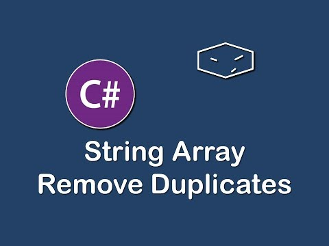 string array remove duplicates in c#