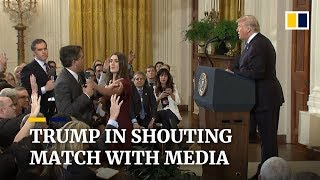 Donald Trump clashes with media at chaotic midterm election press conference
