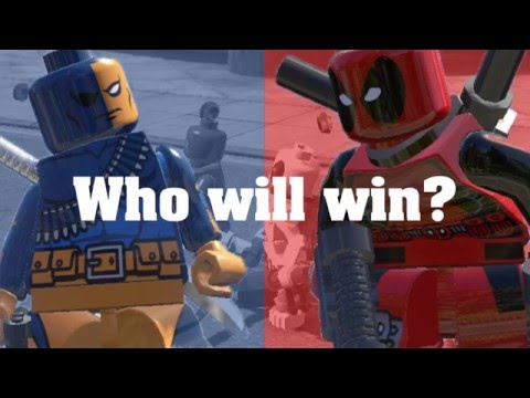 Deadpool VS Deathstroke BATTLE ( LEGO MARVEL SUPERHEROES )