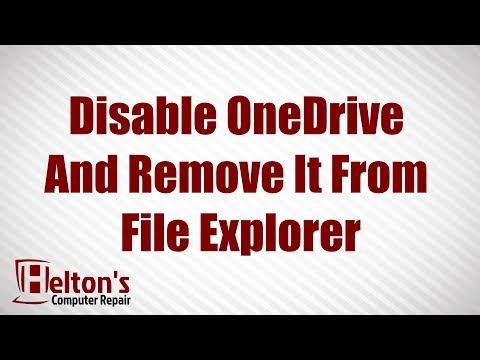 Disable OneDrive And Remove it From File Explorer