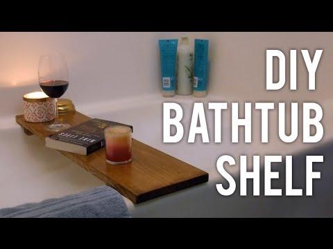 How to Make a Bathtub Shelf : DIY