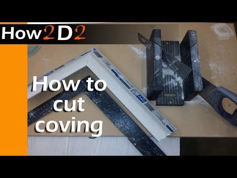 HOW TO CUT COVING  Gypro Cove internal & external corner cutting video