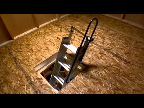Werner Compact Attic Ladder - Fits in Tight Spaces