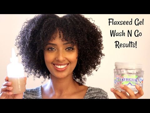 Flaxseed Gel Vs Extreme Wet Line Gel Wash N Go Comparison | Natural Hair