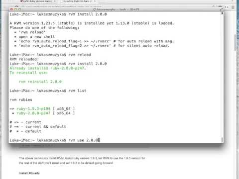 Lesson 2 How to Install Ruby on Rails on Mac