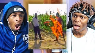 REACTING TO INTERNET STUFFS WITH KSI (AFRICAN EDITION)