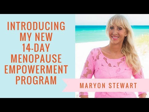 Introducing My New 14 Day Menopause Empowerment Programme | Maryon Stewart