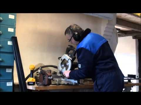 Cutting Aluminum Profiles using a Miter Saw