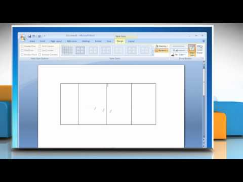 Microsoft® Word 2007: How to draw a table on Windows® 7