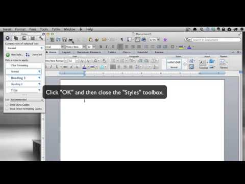 How to change the default font in Word for Mac