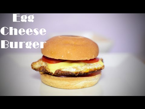 How to Make Egg Cheese Burger  Quick and Delicious Burger
