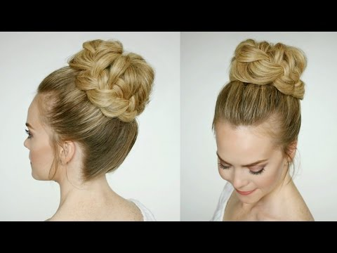 French Braid High Bun | Missy Sue