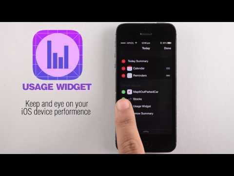 Usage Widget (App HD Video Demo)