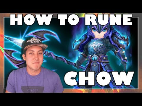 HOW TO RUNE CHOW (WATER DRAGON KNIGHT) | G3 SUMMONERS WAR REVIEW