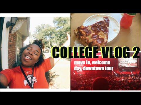 College Vlog #2 Move in day, downtown tour, freshmen week | Ohio State University