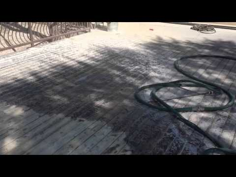 Wood deck paint removal