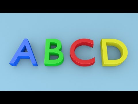 ABCD for Kids - 3D Animation [Capital Letter Alphabets]