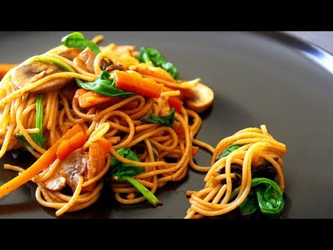 Vegetable Lo mein recipe - easy and healthy asian recipe
