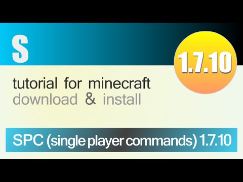 SPC MOD 1.7.10 minecraft - how to download and install [single player commands mod] (with forge)
