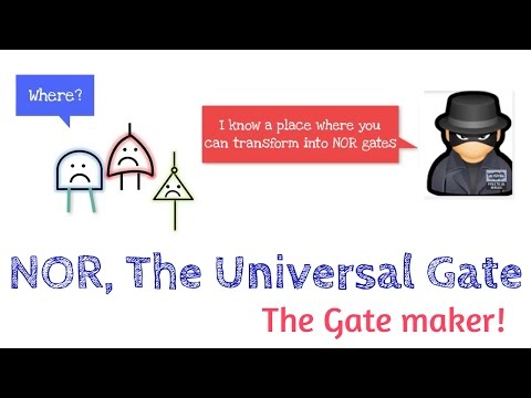 NOR gate | Universal Gate | How to construct different gates using NOR gate? | DE.15