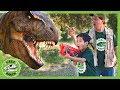 Giant T Rex Dinosaur Hide amp Escape Nerf Adventure With Dinosaurs For Kids amp New Park Ranger